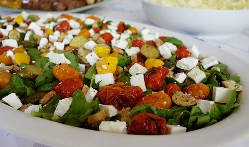 Roast tomato and vegetable salad